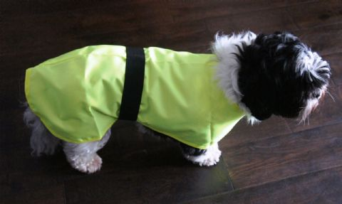 REFLECTIVE DOG RAINCOAT DOG SAFETY COAT HIGH VISIBILITY & WATERPROOF